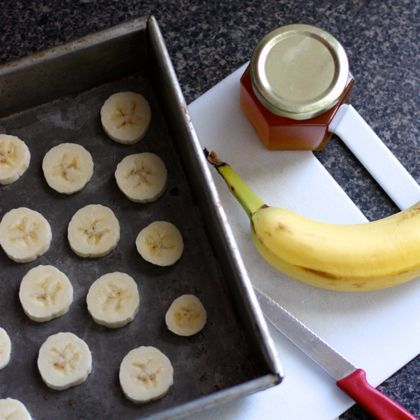 Roasted Cinnamon Bananas. A great snack for kids or perfect for stirring into ice cream or yogurt or oatmeal.