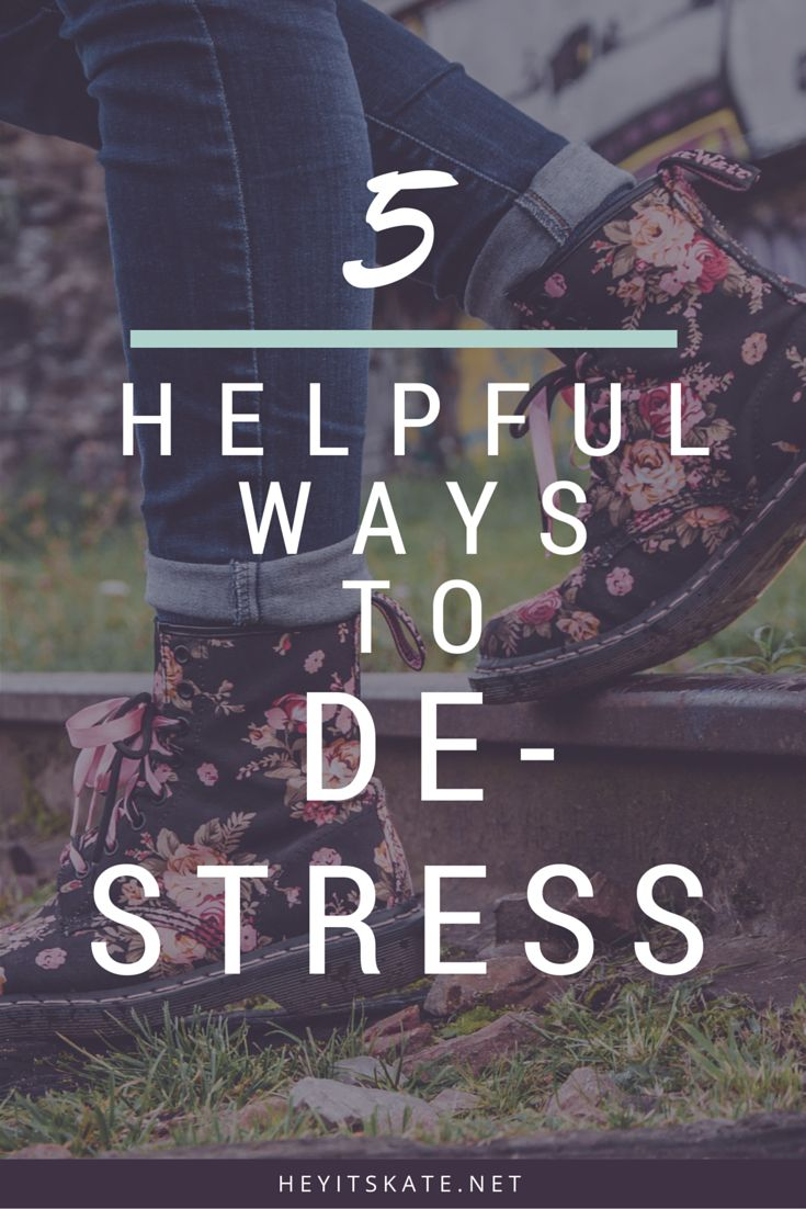 Hey, It's Kate: 5 Helpful Ways To De-Stress   Everyone gets stressed out, and sometimes it can get a little hard to handle. Here are some coping mechanisms for dealing with stress.