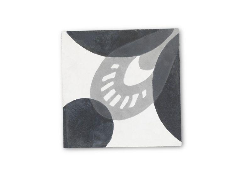 Cementová kachle Black & Grey Transition | Nordic Day