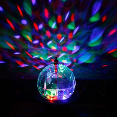 Mini Rotating LED RGB Crystal Magic Ball Effect Light Disco DJ Stage Lighting EU