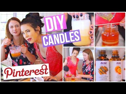 DIY Pinterest Inspired Fall Candles TESTED! - YouTube