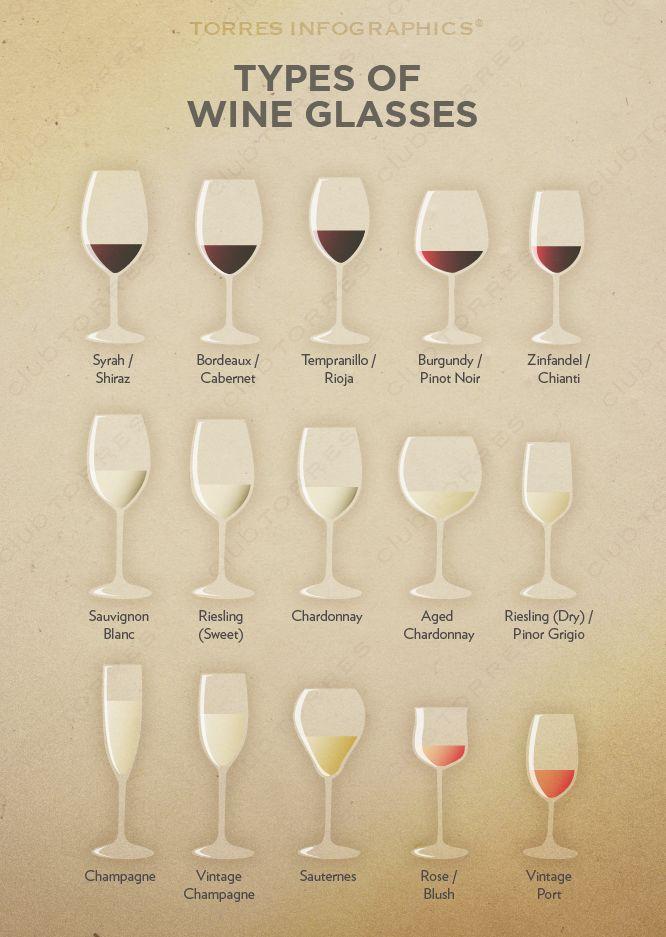 Types of #Wine Glasses                                                                                                                                                     Más                                                                                                                                                                                 Más