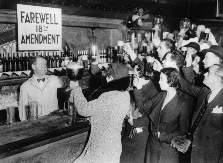 Toasting the repeal of the Volstead Act, 1933