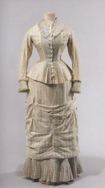 "Summer dress ca. 1878-79 From ""Impressionism and Fashion"" at the Musee d'Orsay"