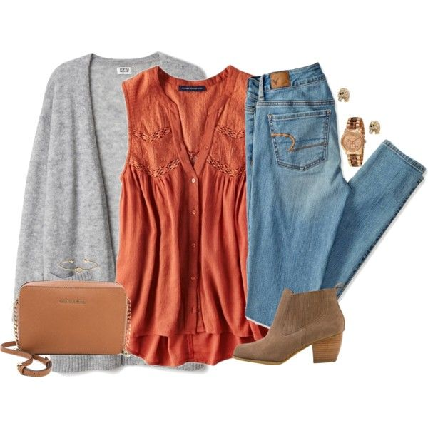 A fashion look from November 2015 featuring American Eagle Outfitters tops, American Eagle Outfitters jeans and Restricted ankle booties. Browse and shop relat…