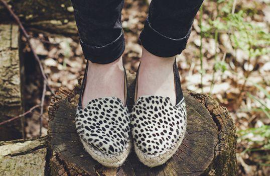 Hairy espadrilles cheetah