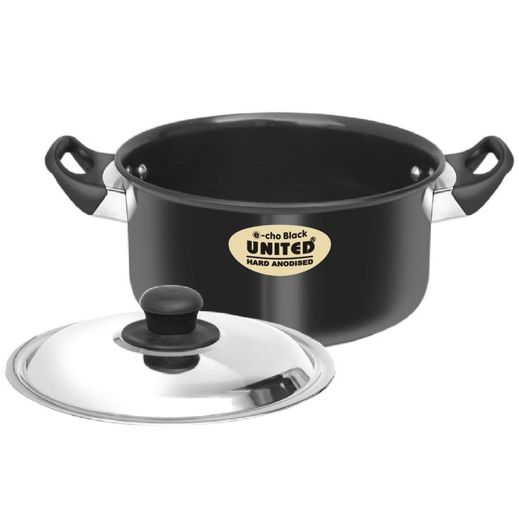 (Saucepan) is a modern version of the traditional Indian cooking utensil used for flavorful, less-water cooking. Its lid holds water on the top and, on its underneath surface, condenses steam that rises from the food simering in the Handi. The reverse taper of the sloping sides of the Handi permits water droplets to fall directly on to the food inside the Handi - thus making delicious, tender and moist food.