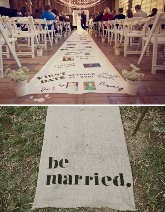 This is such a cool way to remember everything up to your wedding day! A Timeline Aisle!