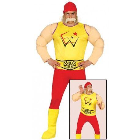 Disfraz de Hulk Hogan para Hombre Pressing Catch #Hulk #Hogan #WWE