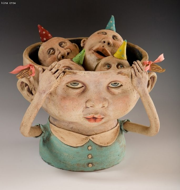 The reason I don't sleep at night by Kina Crow #heads #teste #masks - Carefully selected by GORGONIA www.gorgonia.it