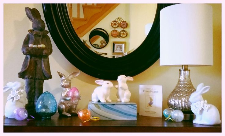 Happy Easter! My spring time display🐇🐣🐥🐰