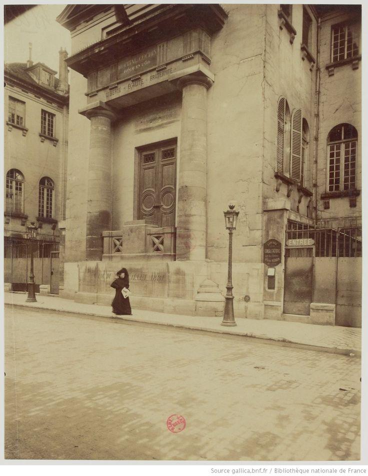 Hôpital Cochin - Fondé en 1780 - 47 F.b St Jacques - 14e arr. : [photographie] / [Atget]