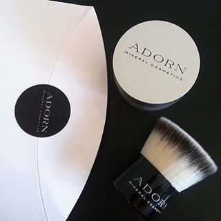 The perfect combo! Our best selling anti-aging SPF 20+ Loose Mineral Foundation and Vegan Kabuki Brush #adorncosmetics #adornthyself