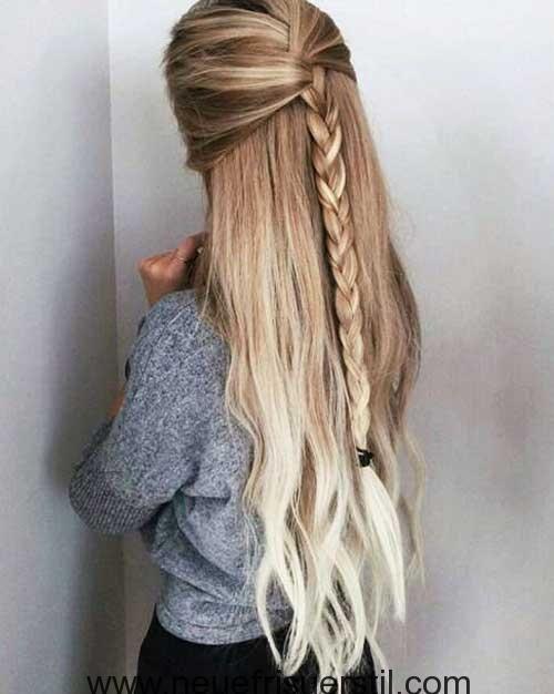 Lange Geflochtene Frisuren für Damen