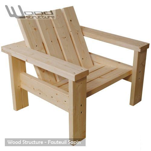 Fauteuil sapin fauteuil design wood structure - Fauteuil design salon ...