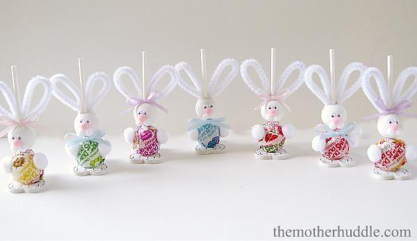 Easter bunny lollipop craft