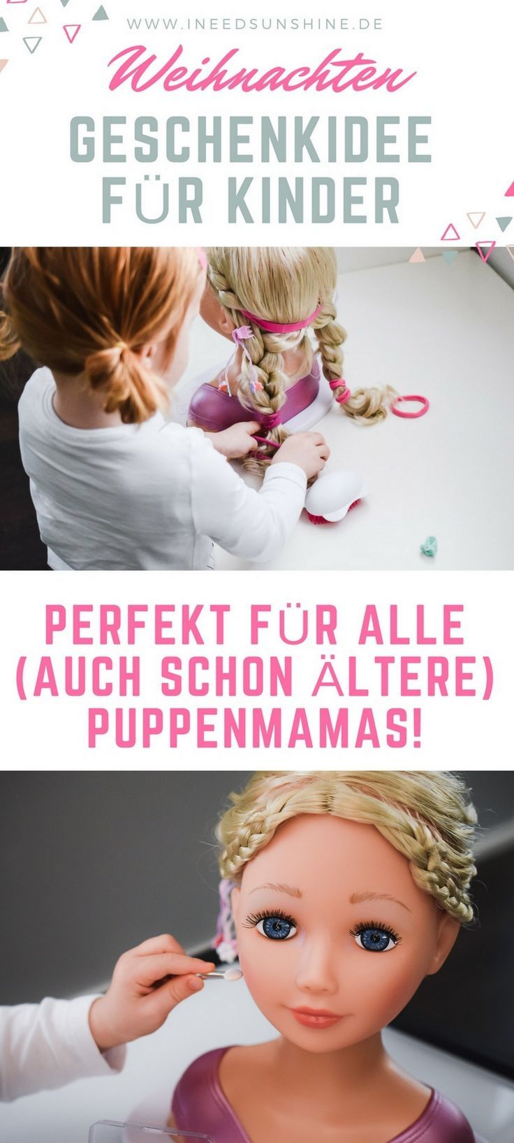 Geschenkideen für Kinder zu Weihnachten: BABY Born Sister Styling Head Schminkkopf für alle (auch schon ältere) Puppenmamas! Nicht nur für Mädchen, auch für Jungen!
