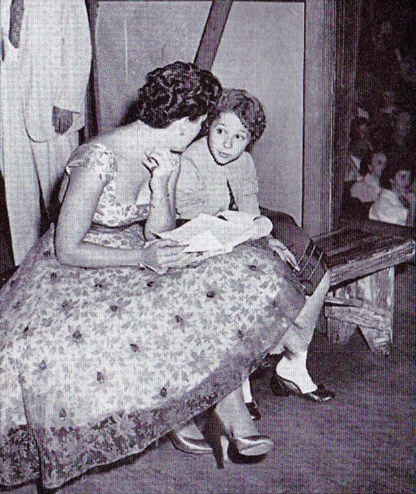 Brenda Lee With Patsy Cline at Grand Ole Opry.