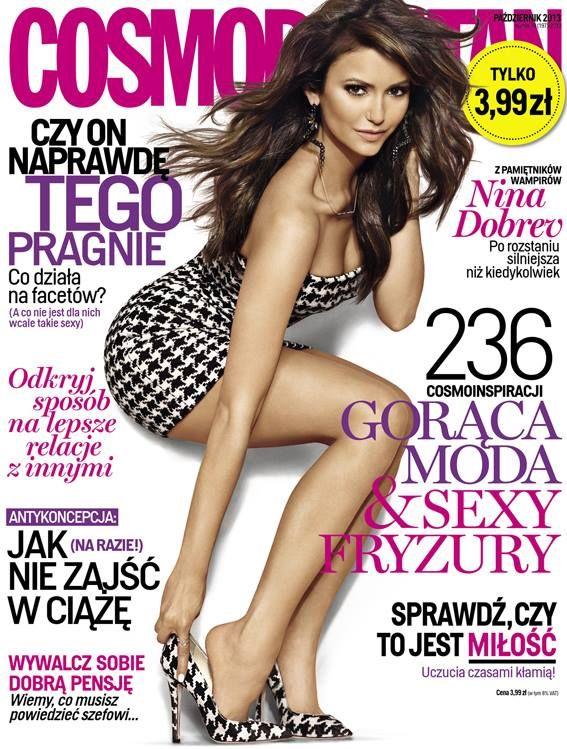 COSMOPOLITAN edycja polska / Nina Dobrev / październik 2013    www.cosmopolitan.pl