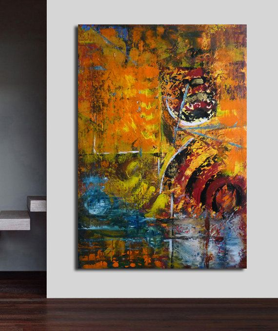large abstract painting acrylic modern art   by artstudioAreti