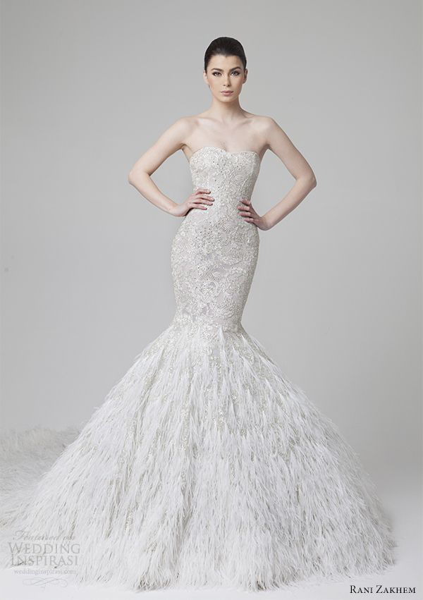17 Best images about Feather Wedding Dresses! on Pinterest ...