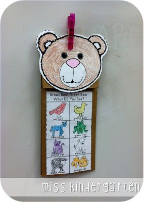 The First Week of School and Classroom Pictures - color words and retell... Brown Bear, Brown Bear What do You See?