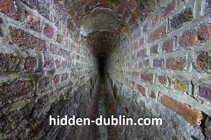 River Poddle underneath the city of Dublin's streets
