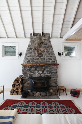 cabin . rock . stone . fireplace . cottage. sweet little cabin of not-mine