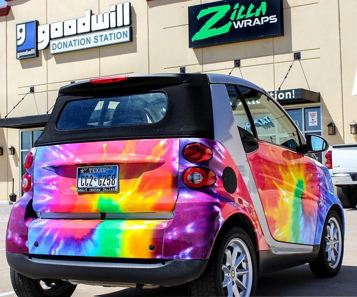 Smart Car Rainbow Car Wraps | Gloss Vinyl Cars
