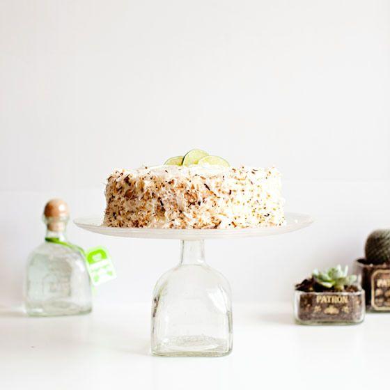Coconut Lime Tequila Cake Recipe via Melodrama