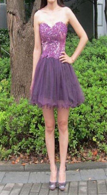 Purple Homecoming Dresses Zippers Sleeveless A Line Sweetheart