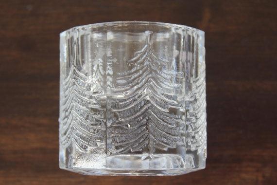 """Large votive candle holder """"Kuusi"""", """"Spruce"""" by Iittala, Finland. """"Kuusi"""" series was designed by Jorma Vennola."""