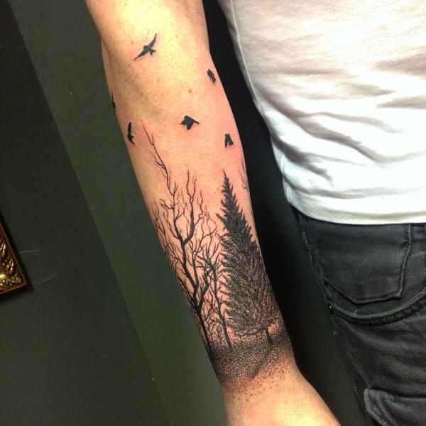 """Tomm Birch on Twitter: """"Also here's a tree themed forearm tattoo ..."""