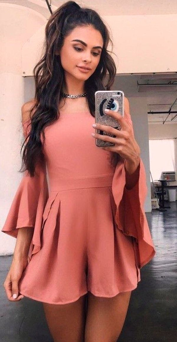 #summer #tigermist #outfits | Dusty Pink Playsuit