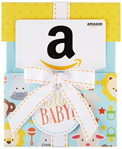 Amazon.com Gift Card for Any Amount in a Hello Baby Reveal (Classic White Card Design)