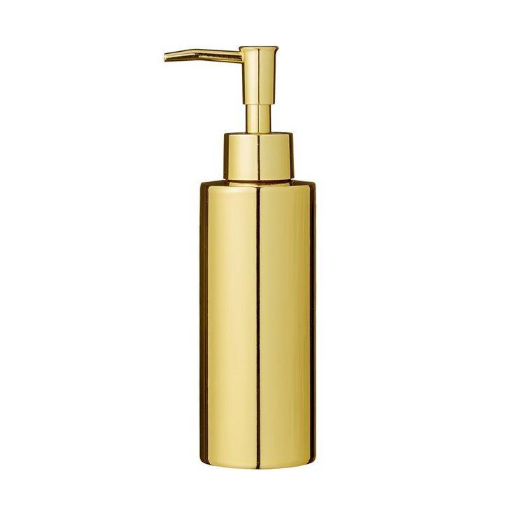 Bloomingville Gouden Zeepdispenser  Prijs:€45,- Handig zeeppompje van H 19,5 x Ø 5,5 cm Gemaakt van sterk en robuust roestvrij staal Prachtig afgewerkt met een goudkleurige finish Ideaal voor in de keuken of badkamer