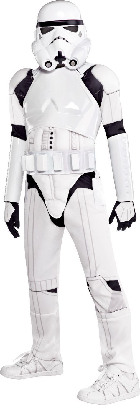 includes plastic chest shield and belt and arm guards $40 Boys Stormtrooper Costume Deluxe - Star Wars - Party City