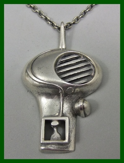 Jorma Laine Hieronymus Bosch inspired bold pendant. One of the truly remarkable creations by Laine.