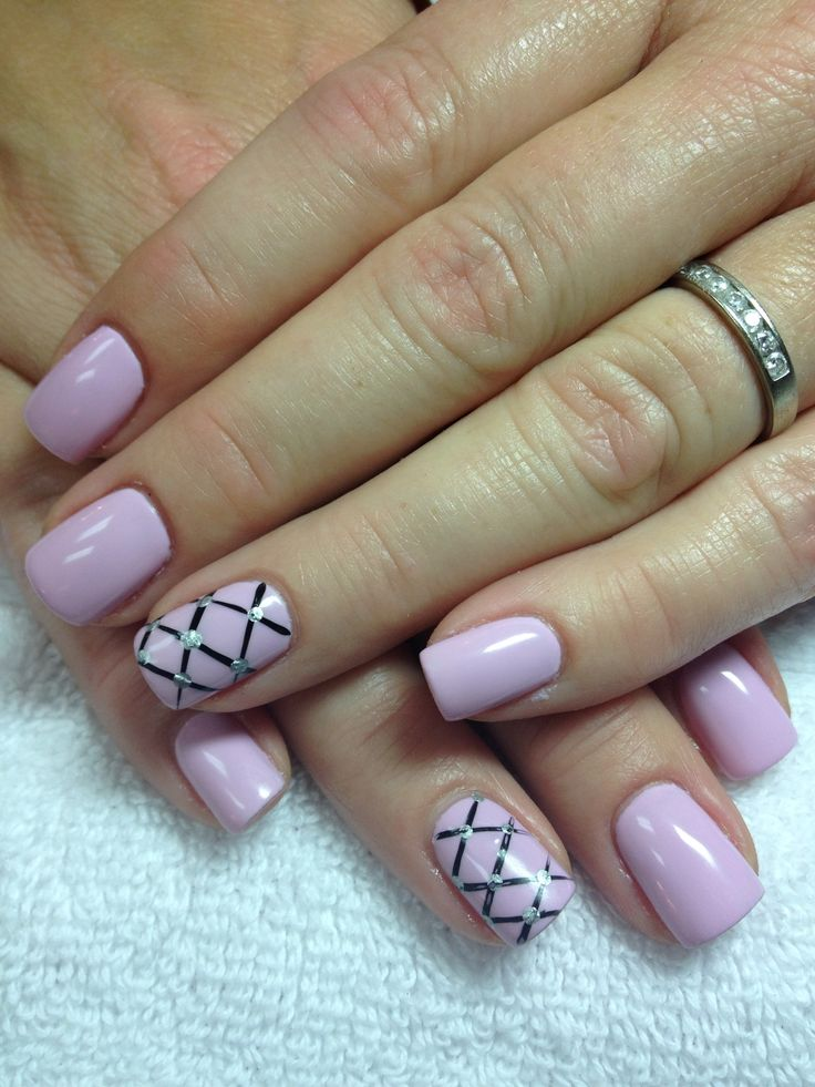 Gel overlay w/shellac cake pop and a awesome design | Shellac Nail