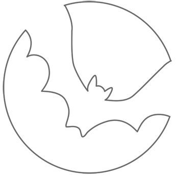 Pumpkin Stencil: Bat Easy Enough For Me To Do But Still Cool Looking Part 70