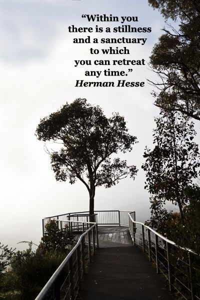 """""""Within you there is a stillness and a sanctuary to which you can retreat any time."""" Herman Hesse – On image of Australia's Grampians National Park, Victoria, at Boroka Lookout by Florence McGinn -- Reading and learning are part of life's harmony; build an empowered reading environment. Learn more at http://www.examiner.com/article/how-to-build-an-empowered-reading-environment"""