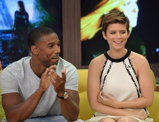 "Marvel's highly anticipated Fantastic Four stars Kate Mara as Sue Storm and Michael B. Jordan as her fictional brother, Johnny Storm. | The ""Fantastic Four"" Cast Perfectly Handled These Incredibly Offensive Questions"