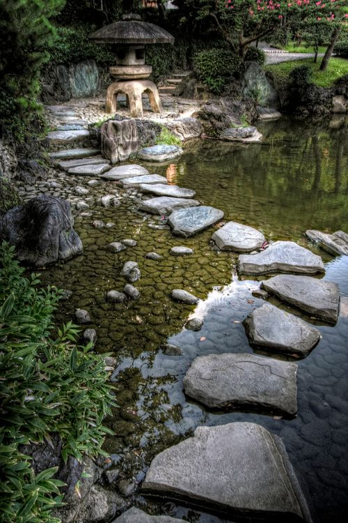 Laguna Woods: U201c Visitheworld: U201c Stepping Stones And Stone Lantern At  Kyu Yasuda Teien Gardens In Ryogoku, Tokyo, Japan (by JRaptor).