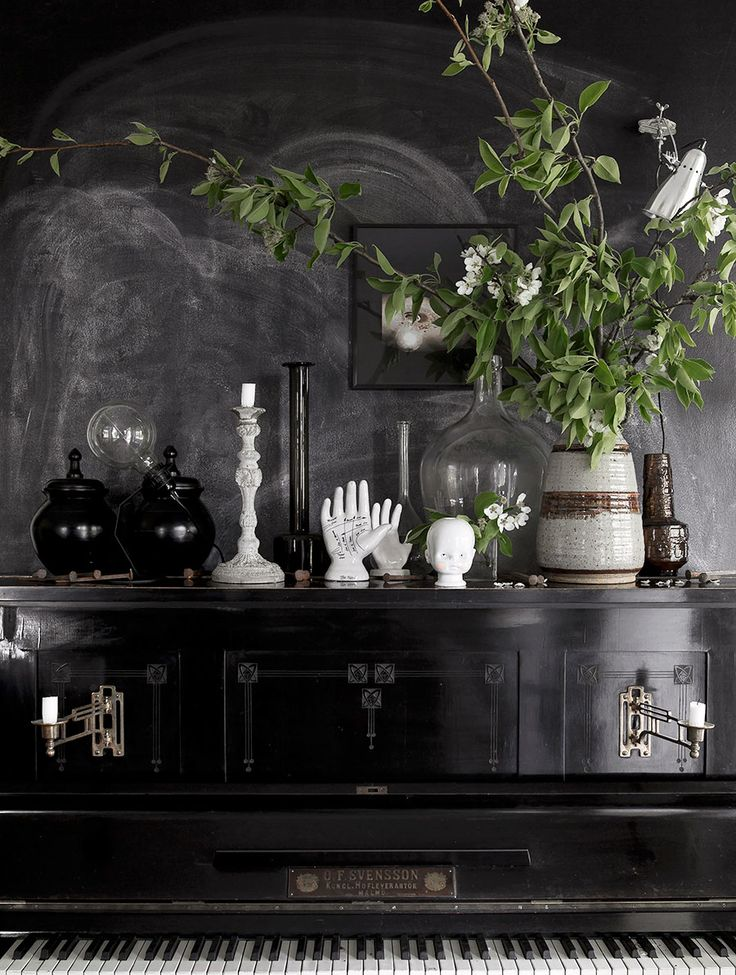 Black interior - details