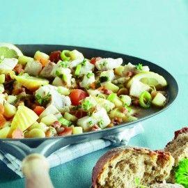 Vissersstoofpot met groene kruiden