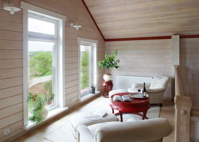 Для большой семьи: деревянный дом в Михайловском   Свежие идеи дизайна интерьеров, декора, архитектуры на InMyRoom.ru
