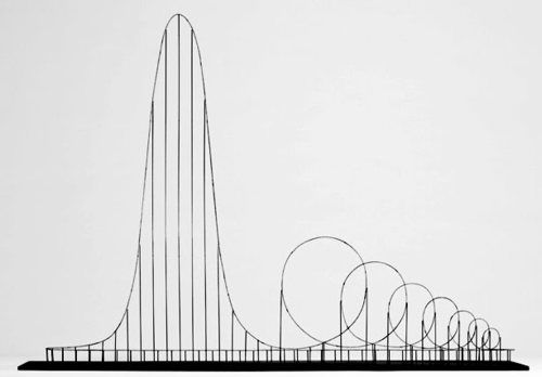 """The Euthanasia Coaster is a concept for a steel roller coaster designed to kill its passengers. In 2010, it was designed and made into a scale model by Julijonas Urbonas, a PhD candidate at the Royal College of Art in London. Urbonas, who has worked at an amusement park, stated that the goal of his concept roller coaster is to take lives """"with elegance and euphoria"""". It is a ride to the death. The seven loops or 'inversions' put the human body under such stress that it..."""