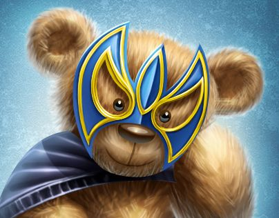 """Check out new work on my @Behance portfolio: """"Teddy Lucha Libre"""" http://be.net/gallery/31703387/Teddy-Lucha-Libre"""