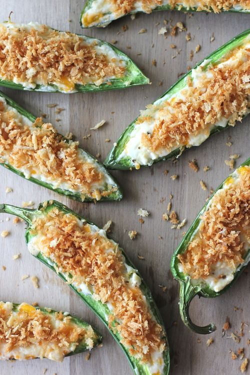 Three-Cheese Jalapeno Poppers by damndelicious #Appetizer #Japapeno_Pepper