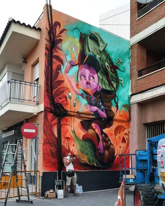 "Mr Chapu, ""Viaje atemporal... "" in Torre Pacheco,Murcia, Spain, 2017"